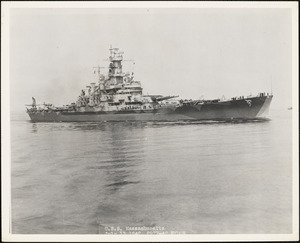 BB-59 USS MASSACHUSETTS - Fitted out by NYBos