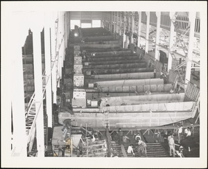 LCM(3) Tank Lighter 50 ft. built by NYBos Scene showing production line 1942
