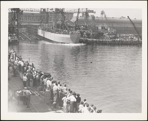 LST-301 First LST built by NYBos-completed 11/1/1942