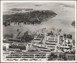 Aerial view of Navy Yard [Boston]