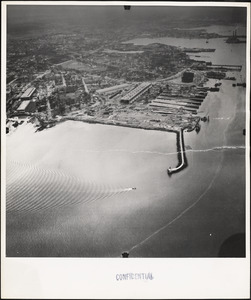 Aerial view of harbor
