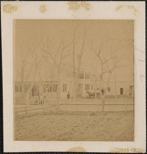 152 Thacher Shore Road, with horse and buggy in front, Yarmouth Port, Mass.