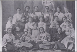 Barnstable High School women, Caroline Knowles seated second from left