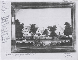 Painting of 485 Old King's Highway, Yarmouth Port, Mass. circa 1860