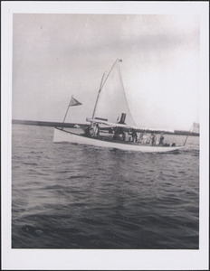 Bass River Yacht Club race committee boat