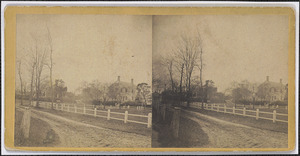 11 Strawberry Lane, house of H. C. Thacher and Captain Bangs Hallett, seen from the common looking south west, Yarmouth Port, Mass.