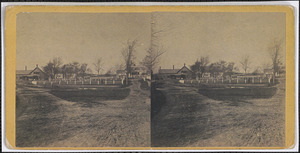 New Church parsonage, Hawes homestead, the common, and Frog Pond, Yarmouth Port, Mass.