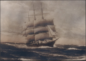Painting of unknown ship with Howes rig