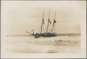Three masted schooner John S. Parker, a British ship bound from Canada to New York