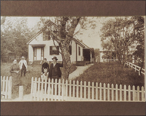 Luther Baker family, taken in front of 348 Old King's Highway, Yarmouth Port, Mass.