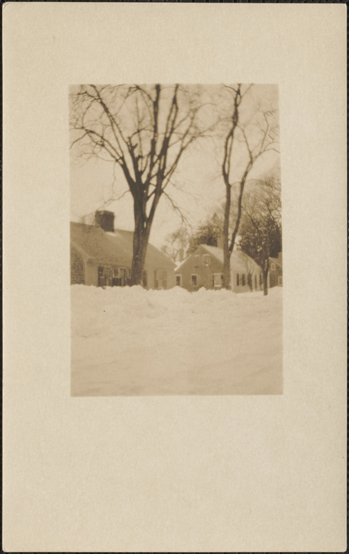 111 Old King's Highway, Yarmouth Port, Mass., snow scene 1926
