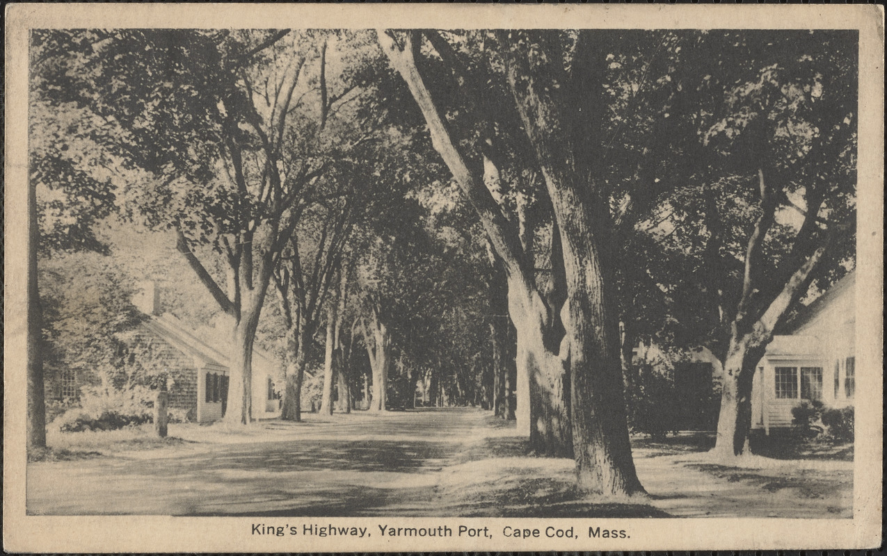 116 Old King's Highway, Yarmouth Port, Mass. on right
