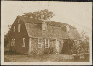1721 house of Rev. Joseph Lord, originally located in Chatham and moved to Great Island, West Yarmouth, Mass.