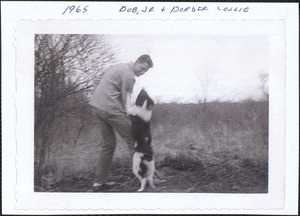Bob Williams Jr. with border collie