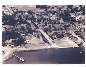 Aerial view of South Yarmouth showing the corner of Homer Avenue and Pleasant Street