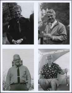 Four photographs of Ted Frothingham