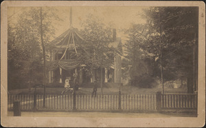 Allen Knowles family at their home, 95 Route 6A, Yarmouth Port, Mass.