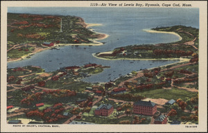 Air view of Lewis Bay, Hyannis, Cape Cod, Mass.
