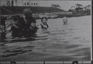 Bathers in Lewis Bay