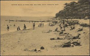 Bathing beach at town park, Bass River, South Yarmouth, Mass.