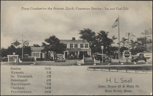H. L. Small, junction of Route 28 and Main St., Bass River, Mass.
