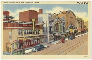 Four theatres in a row, Lawrence, Mass.