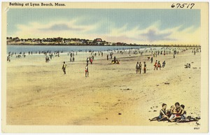 Bathing at Lynn Beach, Mass.