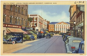 Brattle Street, looking toward Harvard University, Cambridge, Mass.