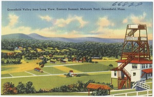 Greenfield Valley from long view, Eastern Summit, Mohawk Trail, Greenfield, Mass.