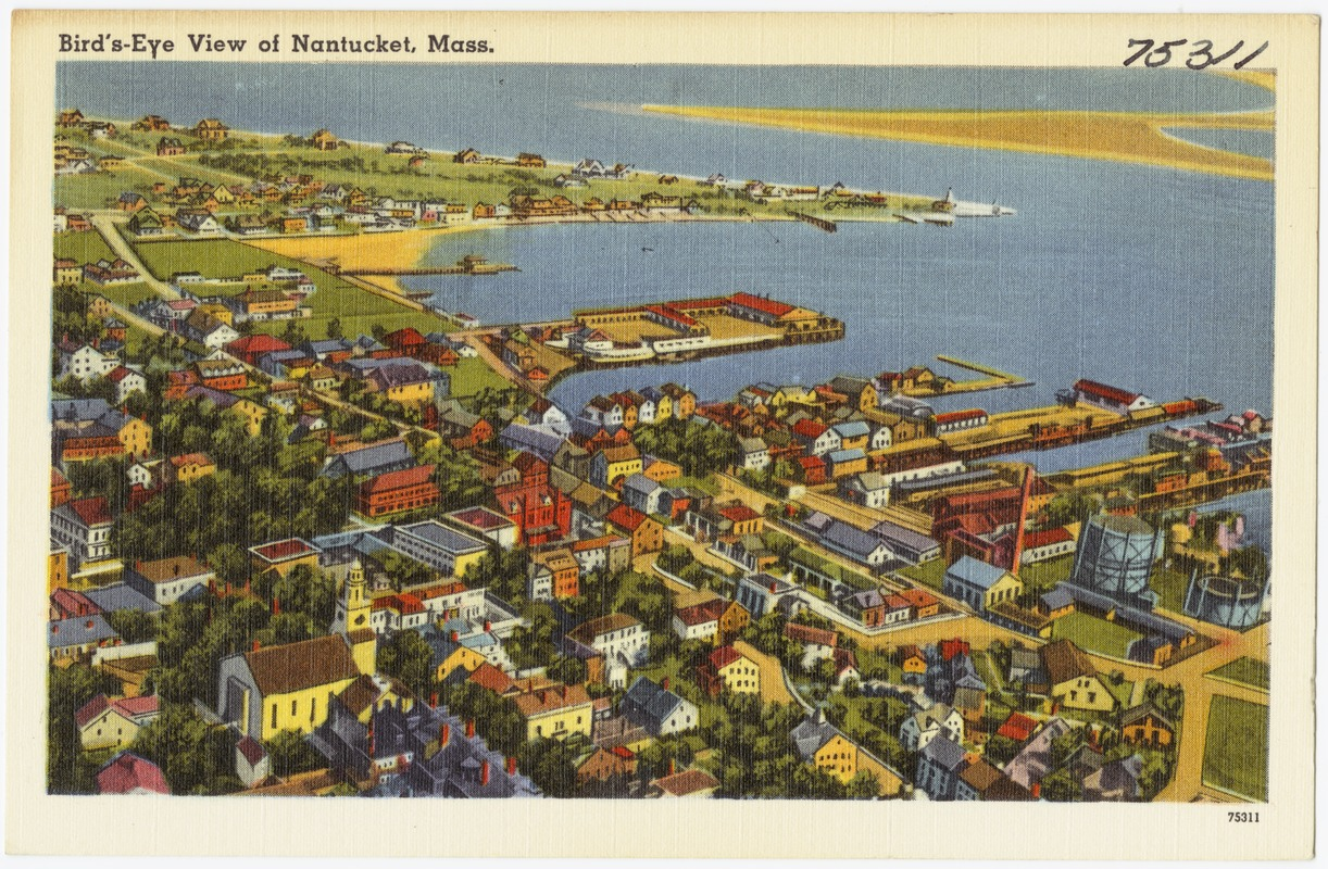 Bird's-eye view of Nantucket, Mass.