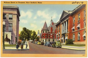 William Street at Pleasant, New Bedford, Mass.