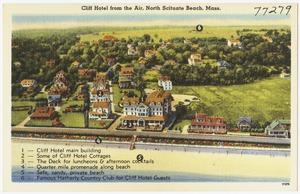Cliff Hotel from the air, North Scituate Beach, Mass.