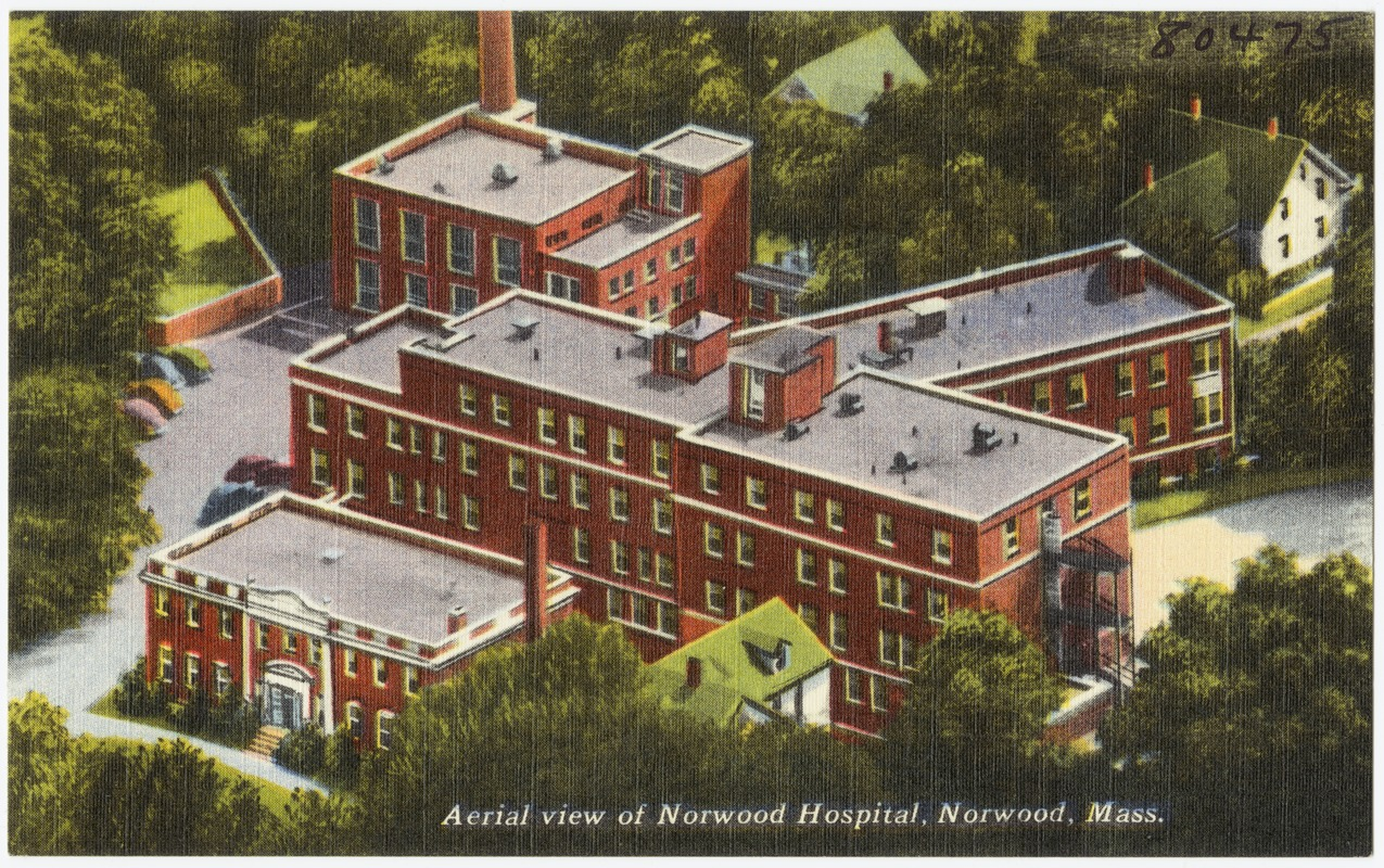 Aerial view of Norwood Hospital, Norwood, Mass.