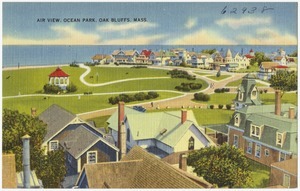 Air view, Ocean Park, Oak Bluffs, Mass.