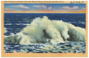The crest of a wave from the briny deep, Avon-by-the-Sea, N. J.