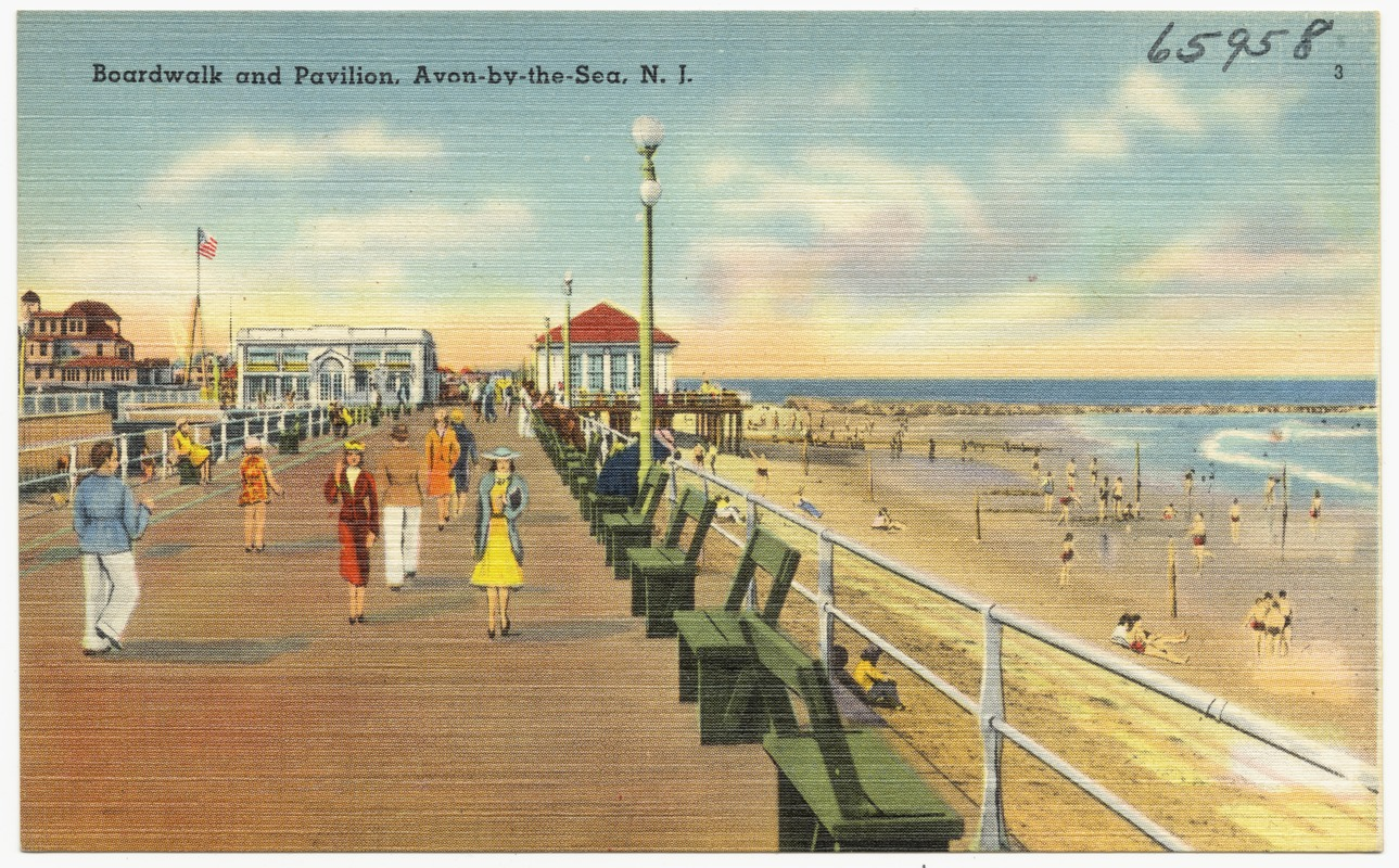 Boardwalk And Pavilion Avon By The Sea N J
