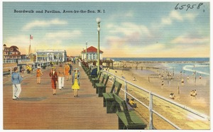 Boardwalk and pavilion, Avon-by-the-Sea, N. J.