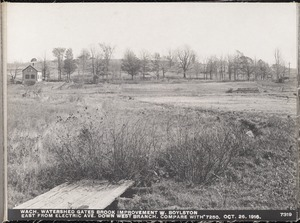 Wachusett Department, Wachusett Watershed, Gates Brook Improvement, east from Electric Avenue down west branch (compare with No. 7250), West Boylston, Mass., Oct. 26, 1916