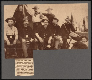 Members of Battery E, photographed at Fort Warren, Boston Harbor Islands, 1898