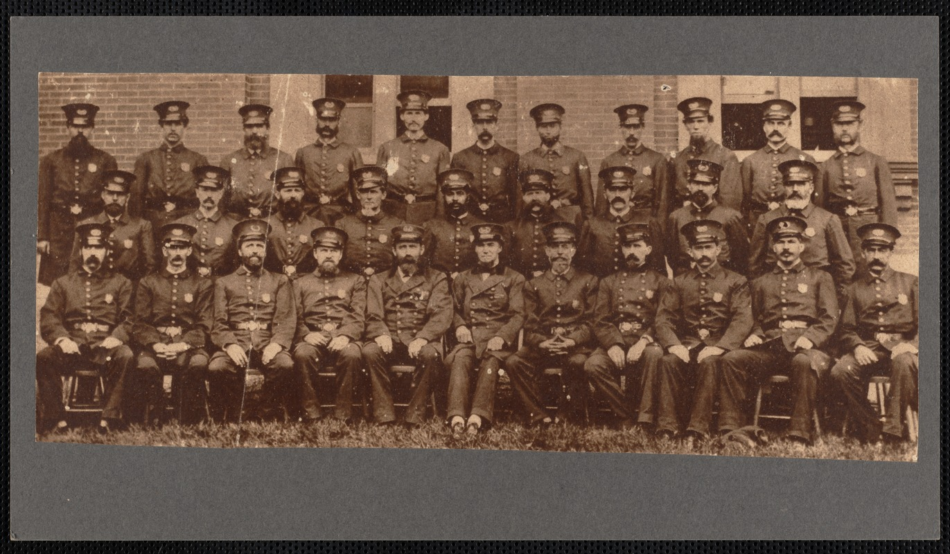 New Bedford's First - this is probably the only photograph in existence of New Bedford's first organized police force