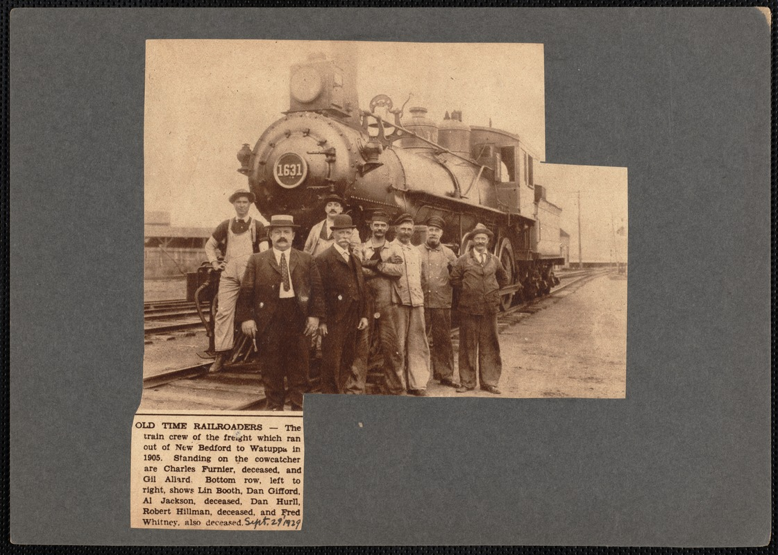 Crew of freight train that ran from New Bedford, MA to Watuppa