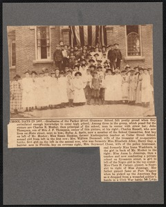 1891 graduates of the Parker Street Grammar school, New Bedford, MA