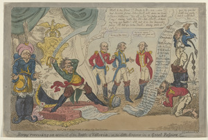 Boney receiving an account of the battle of Vittoria