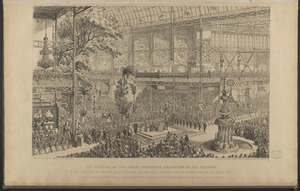 The opening of the Great Industrial Exhibition of all nations