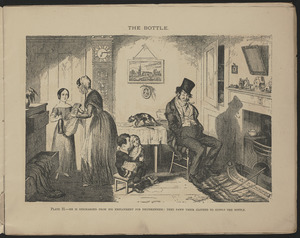 Plate II. He is discharged from his employment for drunkenness: they pawn their clothes to supply the bottle