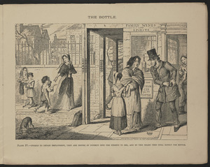 Plate IV. Unable to obtain employment, they are driven by poverty into the streets to beg, and by this means they still supply the bottle