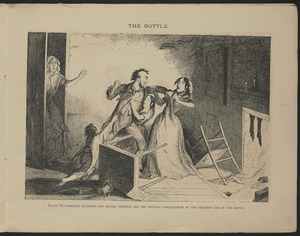 Plate VI. Fearful quarrels and brutal violence are the natural consequences of the frequent use of the bottle