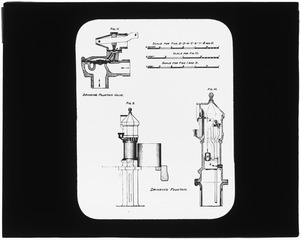 Distribution Department, drinking fountain, engineering plan, Mass., ca. 1880-1889