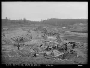 Wachusett Reservoir, South Dike, south of station 12, Boylston; Clinton, Mass., Apr. 2, 1904