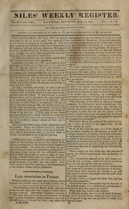 Niles' Weekly Register, May 20, 1815